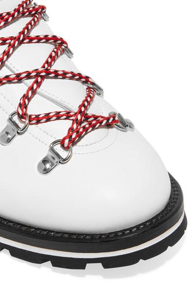 Moncler aus | Blanche Ankle Boots aus Moncler Leder mit Shearling-Futter a73124