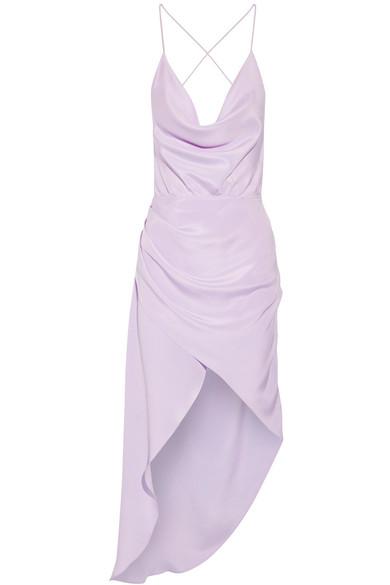 Haney Holly asymmetrisches drapiertes Seidenkleid aus Crêpe de Chine