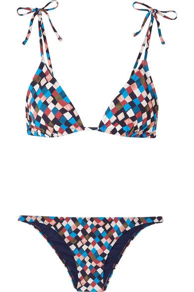 Tory Burch Clemente bedruckter Triangel-Bikini