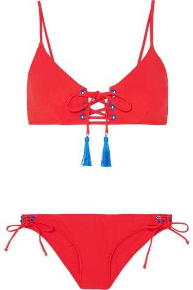Emma Pake Mimi + Marcia Bikini mit Schnürung und Troddeln