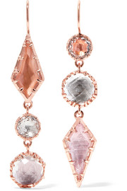 Sadie rose gold-dipped quartz earrings