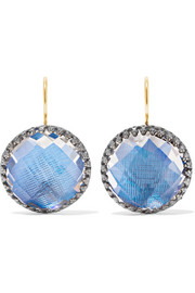 Olivia Button rhodium-dipped quartz earrings