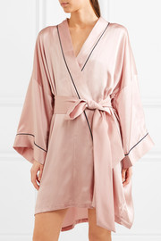 Mimi silk-satin robe