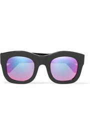 Illesteva Hamilton square-frame acetate mirrored sunglasses