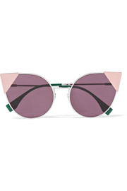 Fendi Embellished cat-eye acetate sunglasses