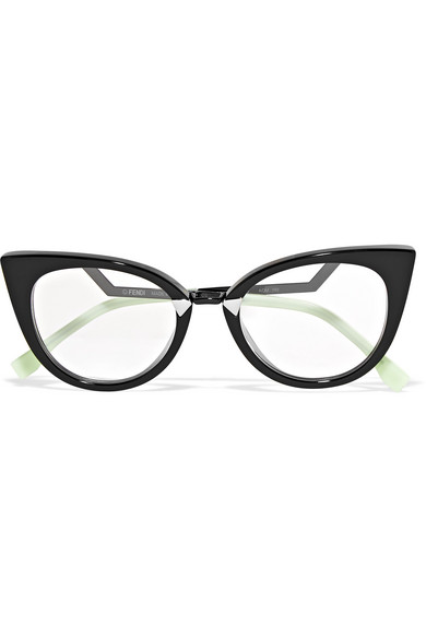 bd5adea616 Fendi. Cat-eye acetate and silver-tone optical glasses