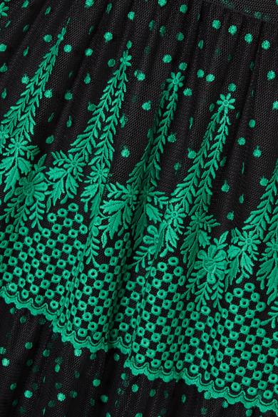 Philosophy di Lorenzo Serafini Bestickte Robe aus Tüll