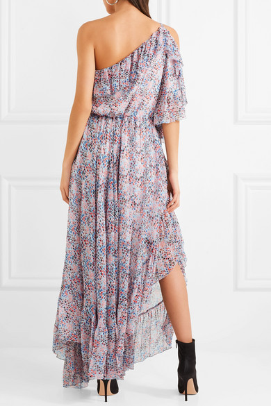 Cold-shoulder Ruffled Floral-print Crepon Maxi Dress - Purple Philosophy di Lorenzo Serafini ZO3APr