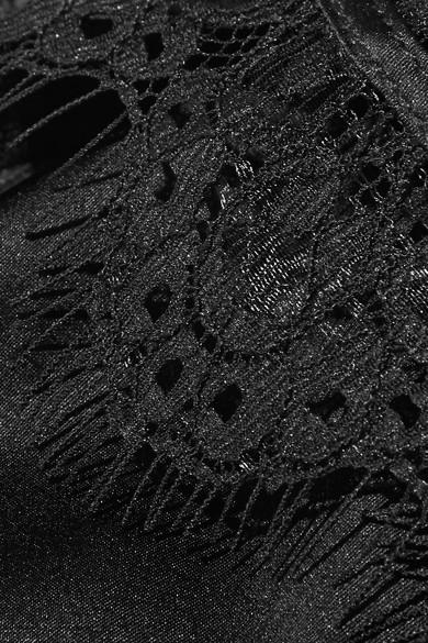 Cami NYC Cassidy Top aus Seiden-Charmeuse mit Spitzenbesatz
