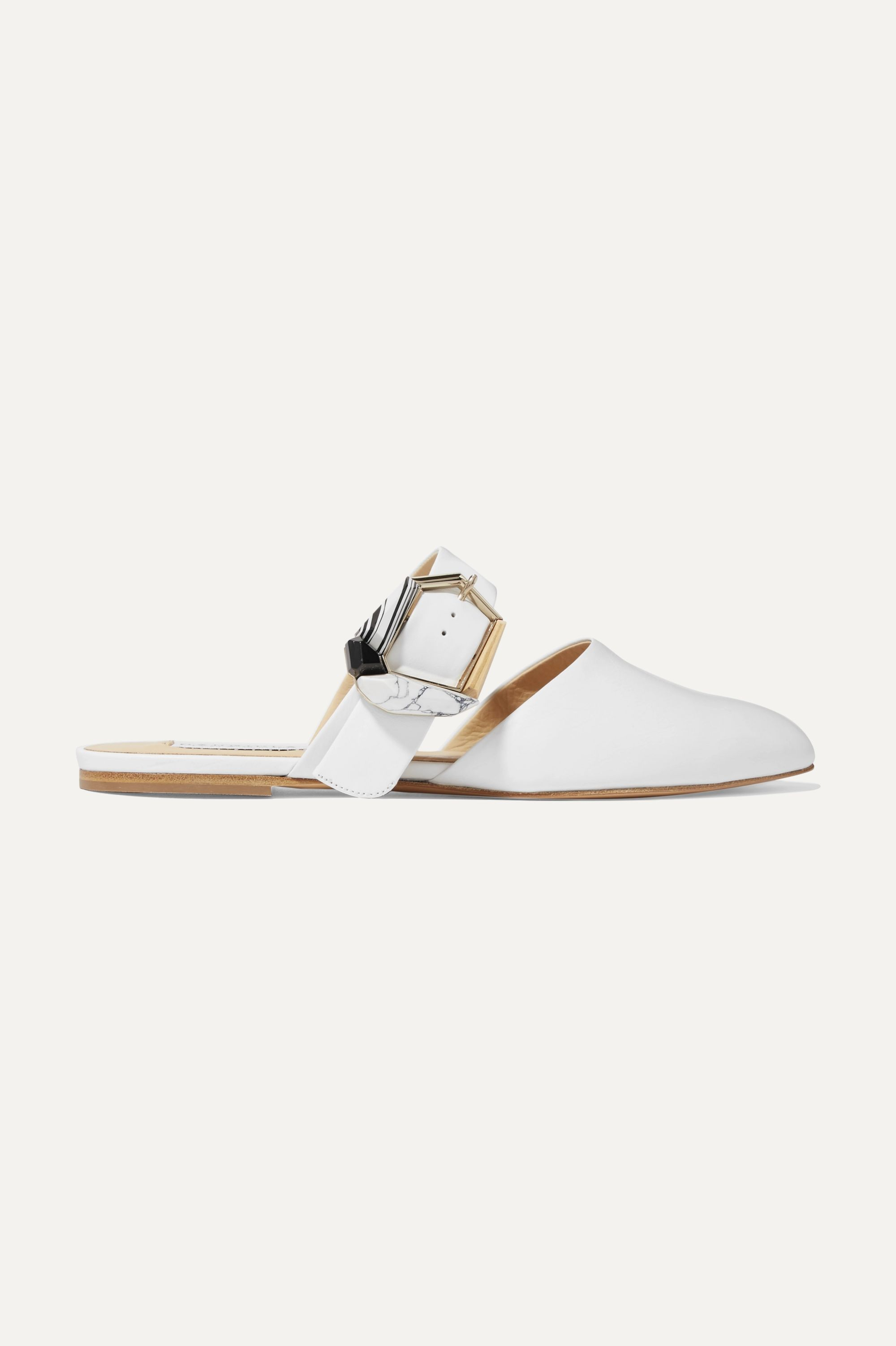 Gabriela Hearst Savage buckled leather mules