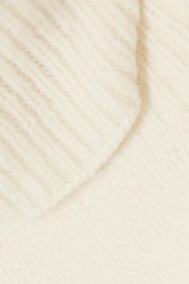 Tory Burch Eva wandelbarer Oversized-Rollkragenpullover aus einer Wollmischung