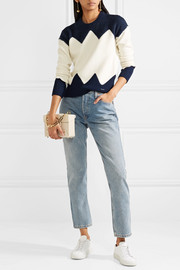 Hannah paneled wool-blend sweater