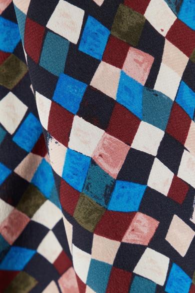 Tory Burch Kaylee bedrucktes Minikleid aus Seiden-Crêpe