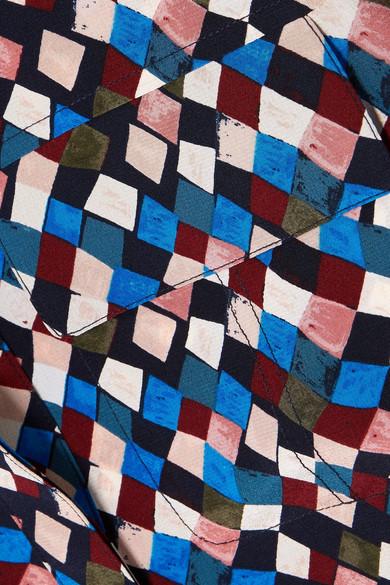 Tory Burch Gianna bedruckte Bluse aus Seiden-Crêpe