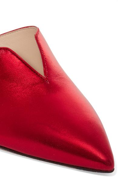 Attico Monica Mules aus Metallic-Leder Shop Online-Verkauf Online-Shopping Günstigen Preis Billige Sammlungen Billig Zuverlässig d657LN