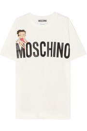 Moschino + Betty Boop oversized printed cotton-jersey T-shirt