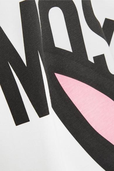 Moschino Bedrucktes T-Shirt aus Jersey aus Stretch-Baumwolle in Oversized-Optik