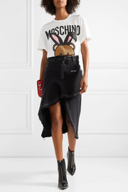 Moschino Oversized printed stretch-cotton jersey T-shirt