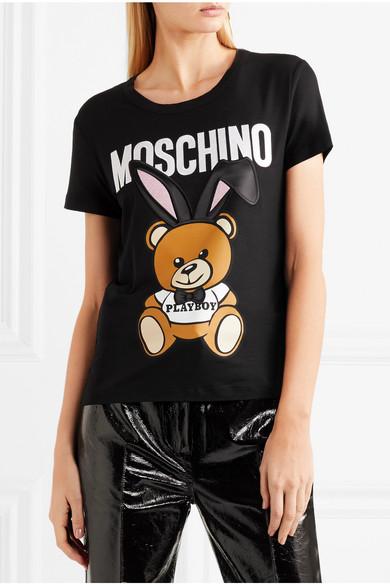 Moschino T-Shirt aus Stretch-Jersey mit Stickerei und Satinbesätzen Billig Zu Kaufen Blick Zu Verkaufen Billig Vorbestellung Manchester Verkauf Online Rj0kwI