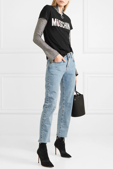 Moschino + Betty Boop bedrucktes T-Shirt aus Baumwoll-Jersey