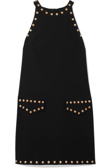 Moschino Nietenverziertes Minikleid aus Crêpe