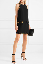 Moschino Studded crepe mini dress