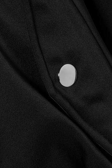 Moschino Bestickte Bomberjacke aus Satin