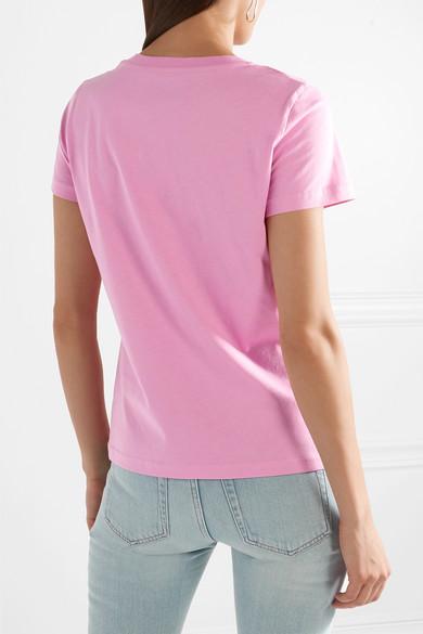 Moschino Bedrucktes T-Shirt aus Baumwoll-Jersey