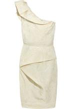 Lela RoseOne-shoulder silk-blend dress