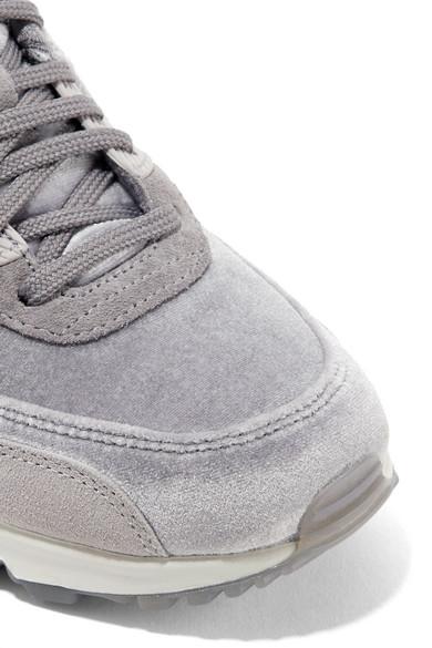 Nike Air Max 90 Sneakers aus Samt mit Velourslederbesätzen