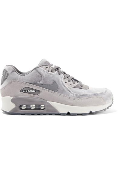 nike air max 90 gray and white
