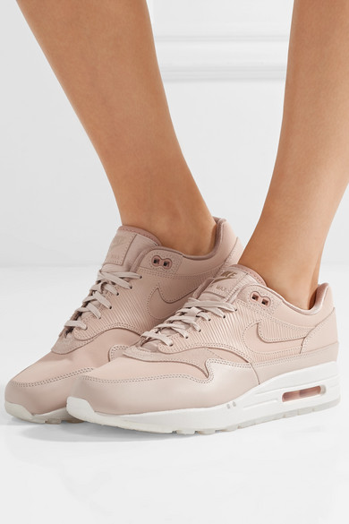 Air Max 1 Premium suede trimmed leather sneakers