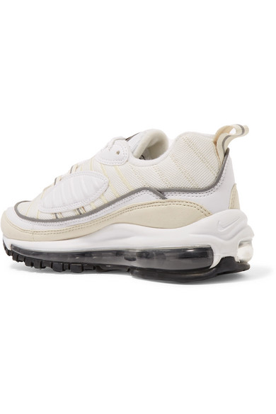 nike air max 98 leather and nubuck trimmed mesh sneakers