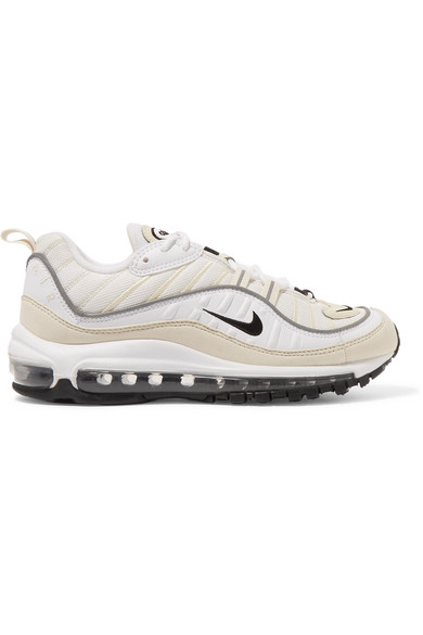 Nike | Air Max 98 leather and nubuck-trimmed mesh sneakers |  NET-A-PORTER.COM