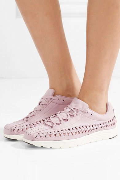 Nike Mayfly Sneakers From Faux Suede With Leather Trim And Braided Details