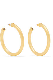 Kenneth Jay Lane Gold-tone hoop earrings