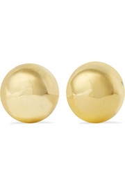 Kenneth Jay Lane Gold-plated clip earrings