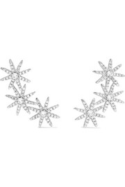 Kenneth Jay Lane Starburst silver-tone cubic zirconia earrings