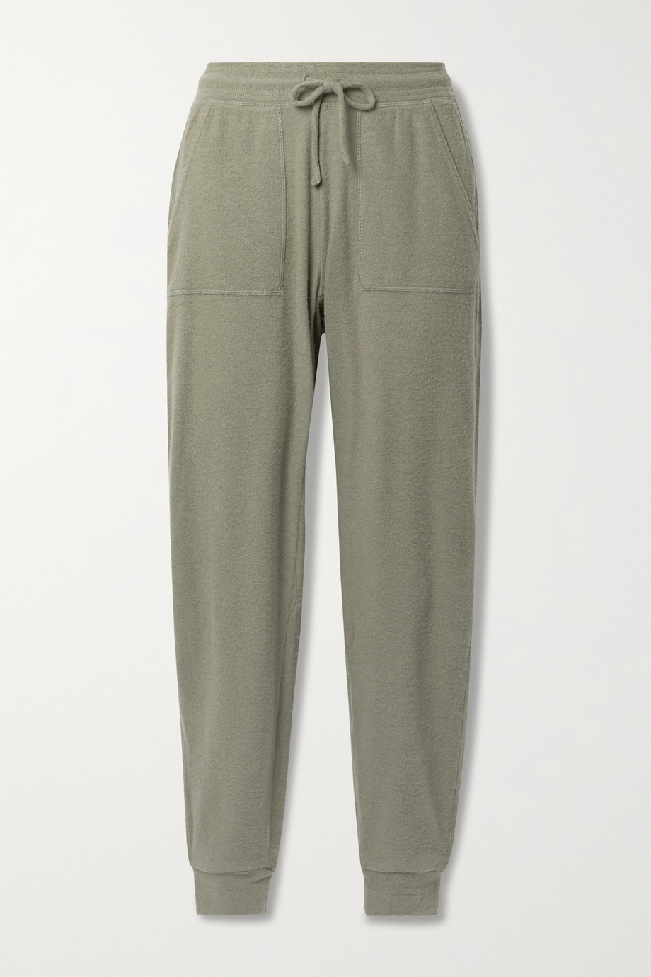 ALO YOGA Soho brushed stretch-jersey track pants