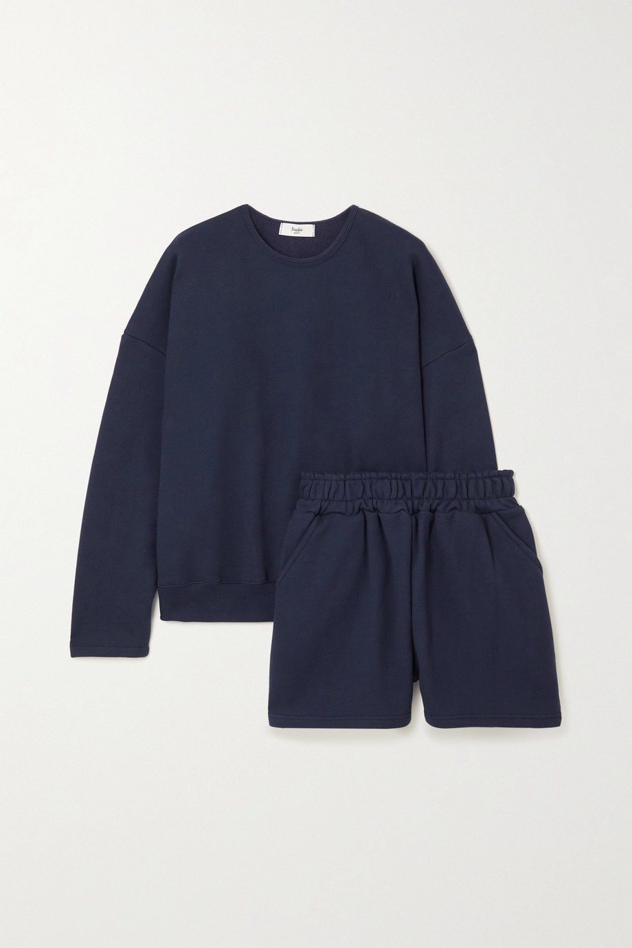 FRANKIE SHOP Jaimie oversized cotton-jersey sweatshirt and shorts set