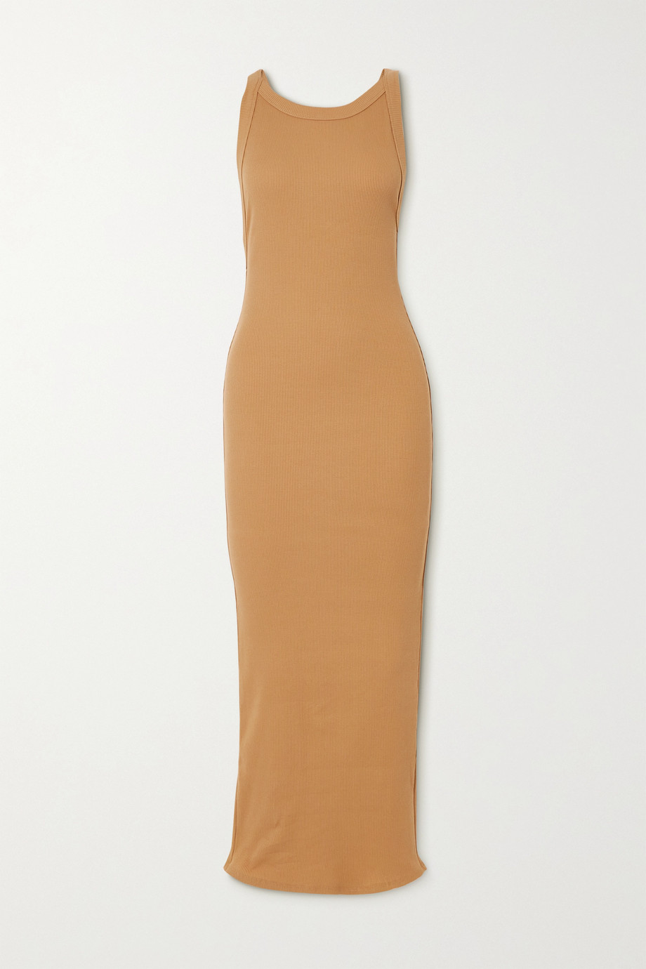 THE LINE BY K Maribel open-back ribbed stretch-cotton jersey midi dress