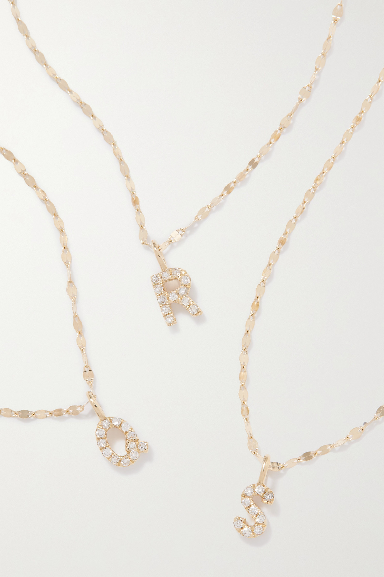 Stone And Strand Initial Sparkle Gold Diamond Necklace