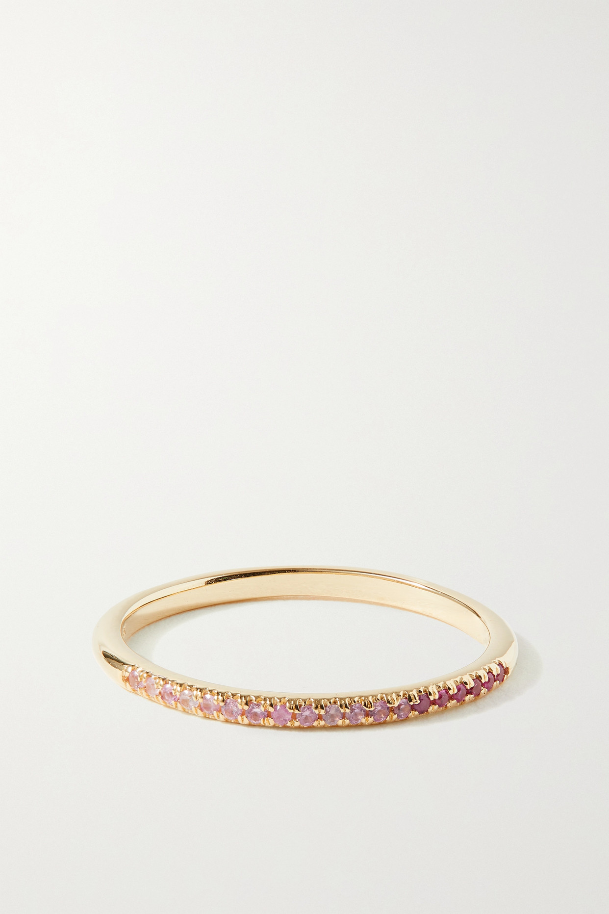 Stone And Strand 14-karat Gold Sapphire Ring In Pink