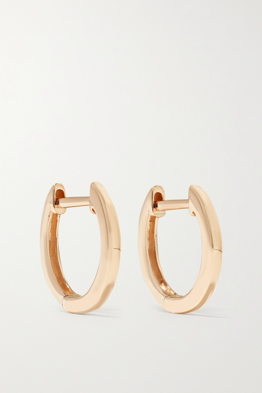 ANITA KO Huggies 18-karat rose gold hoop earrings