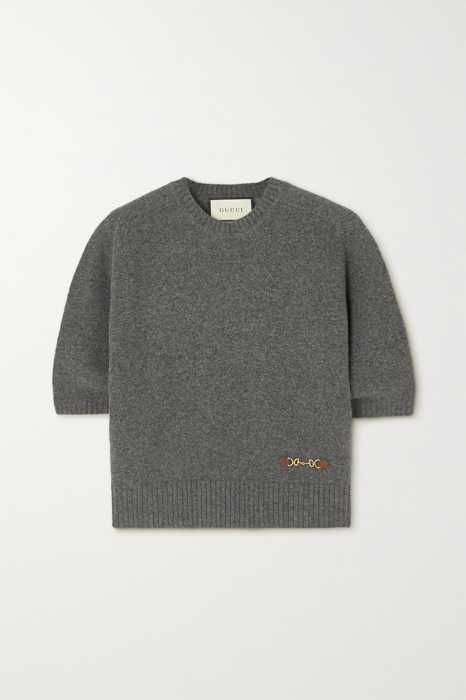 GUCCI Horsebit-detailed cashmere sweater