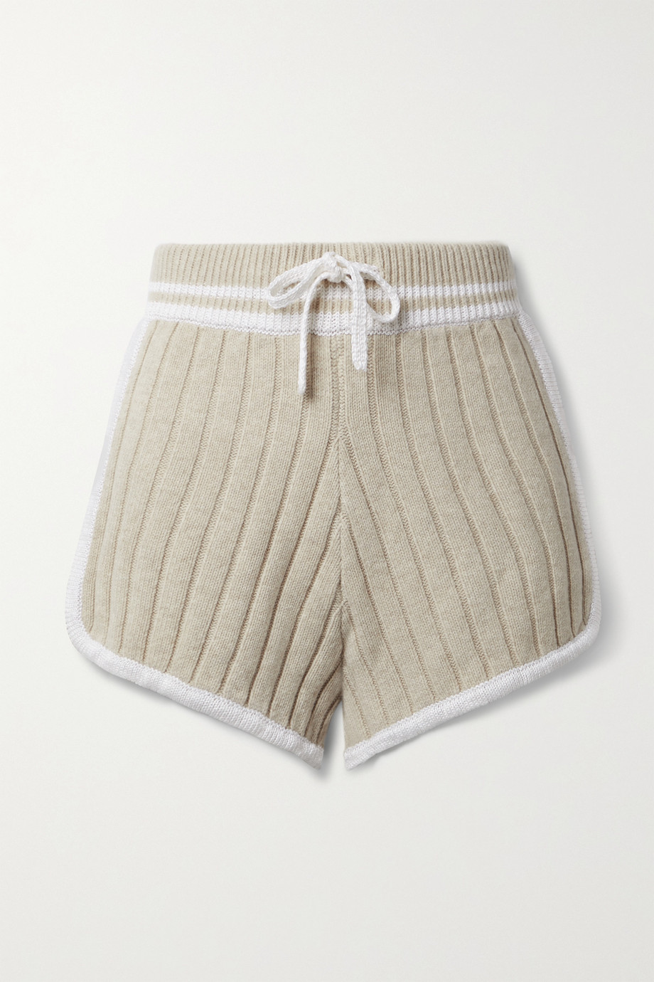 RAG & BONE Serena striped ribbed-knit shorts