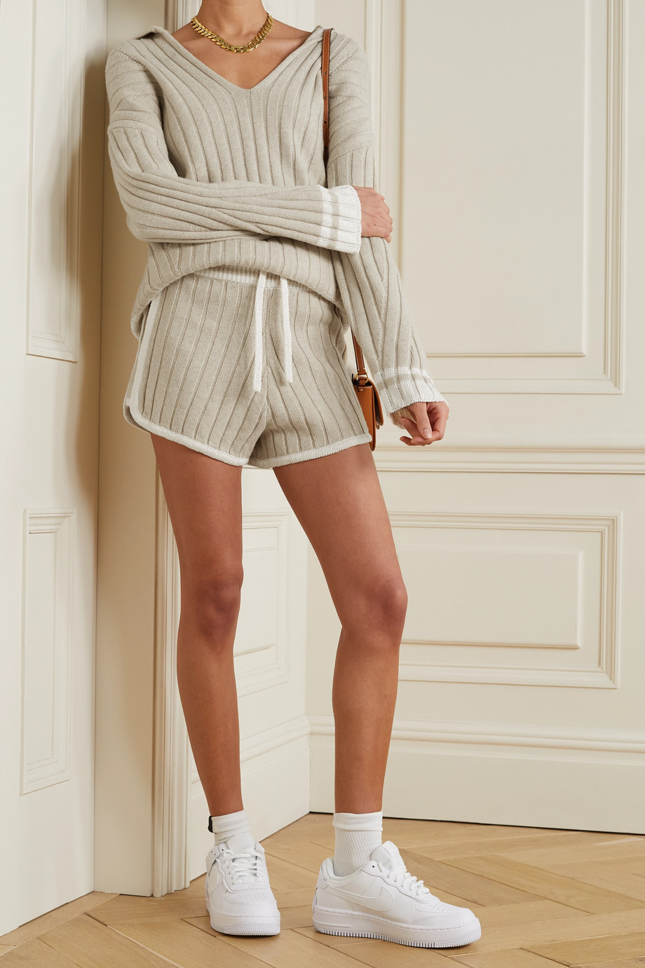 RAG & BONE Serena striped ribbed-knit sweater