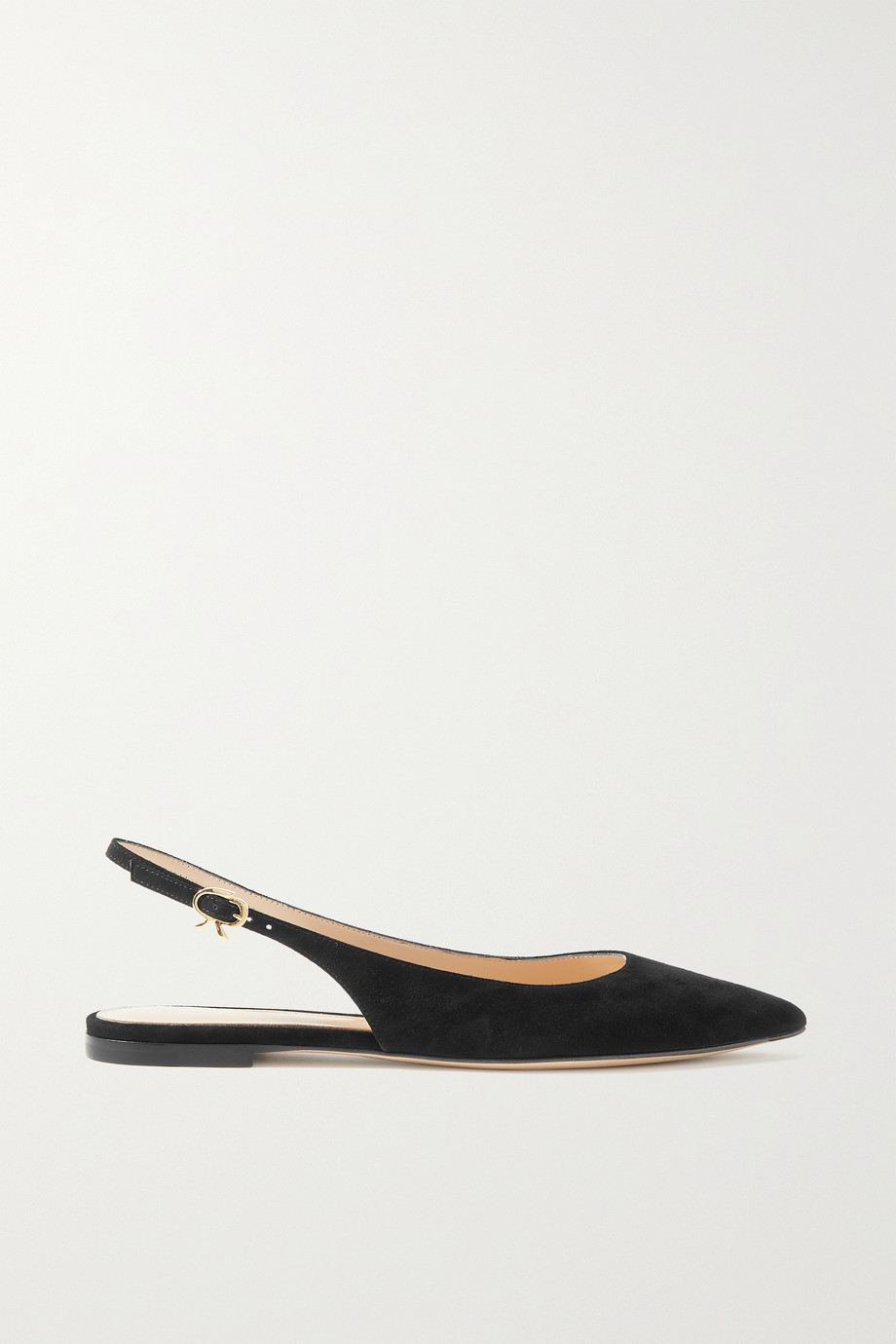 GIANVITO ROSSI Katty suede slingback point-toe flats