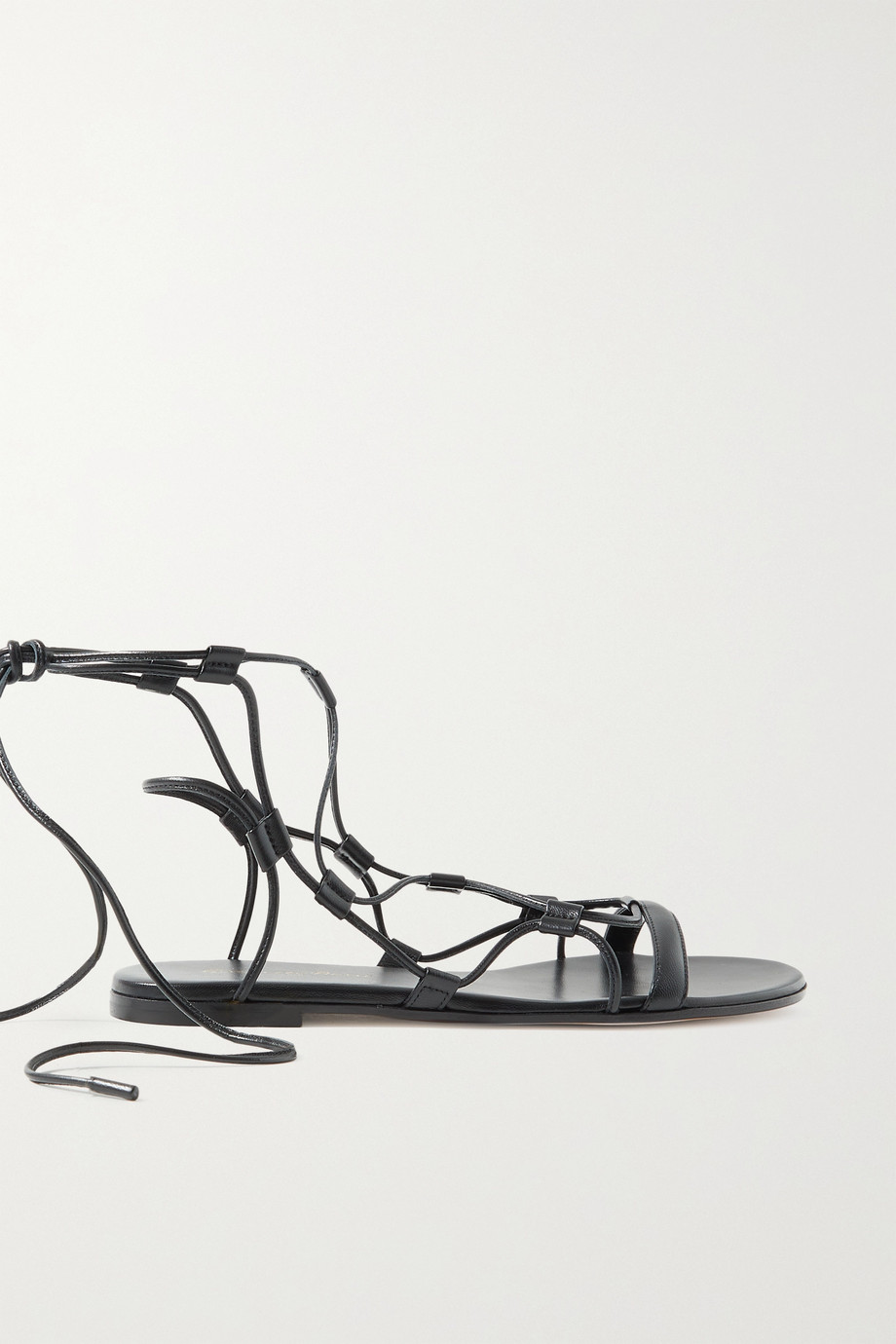 GIANVITO ROSSI Giza lace-up leather sandals