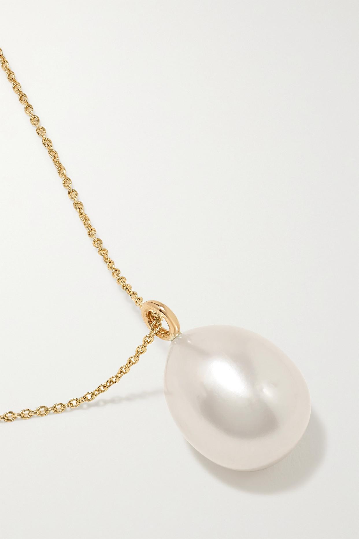 Sophie Bille Brahe L'eau 14-karat Gold Pearl Necklace